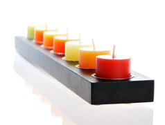 Candles in candle holder